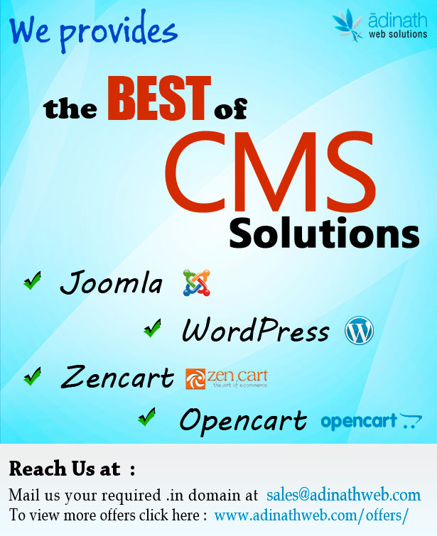 CMS Based like Joomla, Wordpress, Drupal Website Designing Offers